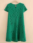 tanie Sukienki-Damskie Rozmiar plus Sukienka swingowa Sukienka - Jendolity kolor Przed kolano / Lato