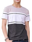 povoljno Muške majice i potkošulje-Majica s rukavima Muškarci - Osnovni Ulični šik Dnevno Sport Jednobojni Color block