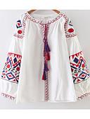 tanie Sukienki-Koszula Damskie Vintage Geometryczny