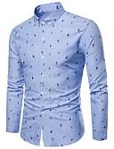 tanie Męskie koszule-Rozmiar plus Koszula Męskie Wzornictwo chińskie Kwiaty / Długi rękaw