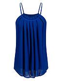 ieftine Bluză-Pentru femei Cu Bretele Bluză Club De Bază - Mată Plisată / Primăvară / Vară