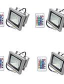 preiswerte Brautjungfernkleider-4pcs 10 W LED Flutlichter / Leuchte für Rasenplatz Wasserfest / Abblendbar / Dekorativ RGB 85-265 V Außenbeleuchtung / Hof / Garten