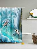 hesapli Tişört-Shower Curtains & Hooks Klasik Polyester Yenilik Makine Yapımı Su Geçirmez Banyo