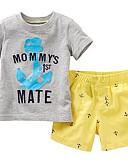 ieftine Set Îmbrăcăminte Băieți Bebeluși-Bebelus Băieți Casual Mată Manșon scurt Bumbac Set Îmbrăcăminte