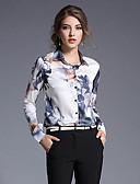 זול חזיות-גיאומטרי צווארון חולצה בסיסי חגים חולצה - בגדי ריקוד נשים