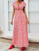 cheap Men's Ties & Bow Ties-Women's Beach / Holiday Street chic / Boho Loose Sheath Dress - Geometric Asymmetrical Strap / U Neck