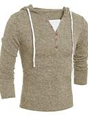 baratos Camisetas & Regatas Masculinas-Homens Básico Pulôver - Sólido