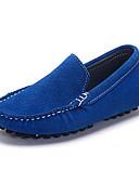 זול חולצות לגברים-בנים / בנות נעליים עור נובוק אביב / סתיו נוחות נעליים ללא שרוכים ל כחול ים