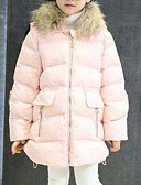 cheap Girls' Jackets & Coats-Kids Girls' Solid Colored Long Sleeve Long Cotton Down & Cotton Padded