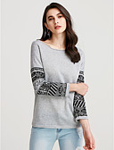 cheap Women's T-shirts-Women's Street chic Cotton Loose Shirt - Geometric