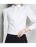 tanie Koszula-Koszula Damskie Podstawowy Kołnierzyk koszuli Solidne kolory