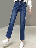 ieftine Pantaloni de Damă-Pentru femei Șic Stradă Blugi Pantaloni Dungi