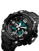 cheap Dress Watches-Men's Sport Watch Japanese Calendar / date / day / Chronograph / Water Resistant / Water Proof PU Band Luxury Black / Stopwatch / Noctilucent / Two Years / Sony SR626SW+CR2025