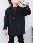 お買い得  男児 ジャケット&コート-男の子 ソリッド コットン ジャケット&コート 長袖 ネイビーブルー