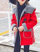 tanie Kurtki i płaszcze dla dziewczynek-Dzieci / Brzdąc Dla dziewczynek Solidne kolory Długi rękaw Regularny Bawełna Odzież puchowa / pikowana Fuksja 140
