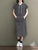 abordables Vestidos de Mujer-Mujer Algodón Pantalones - A Rayas Marrón