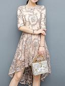 tanie Sukienki-Damskie Moda miejska / Wyrafinowany styl Szczupła Spodnie - Solidne kolory Koronka Beżowy / Asymetryczna / Święto