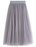 tanie Damska spódnica-Damskie Moda miejska Maxi Linia A Spódnice Solidne kolory