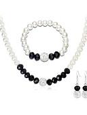cheap Bras-Jewelry Set - European, Fashion, Elegant Include Bracelet Bangles / Drop Earrings / Choker Necklace Black For Wedding / Party