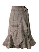 זול חצאיות לנשים-אחיד - חצאיות גזרת A סגנון רחוב בגדי ריקוד נשים