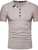 ieftine Maieu & Tricouri Bărbați-Bărbați În V Tricou Șic Stradă - Mată / Manșon scurt