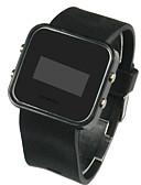 hesapli Spor Saat-Erkek Bilek Saati Dijital saat Dijital Silikon Siyah Takvim LED Dijital İhtişam - Siyah Bir yıl Pil Ömrü / SSUO CR2025