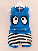 ieftine Seturi Îmbrăcăminte Băieți-Copil Băieți Activ Zilnic / Concediu Dungi / Imprimeu Peteci Fără manșon Regular Bumbac / Acrilic Set Îmbrăcăminte Trifoi / Draguț