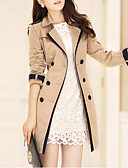 cheap Women's Trench Coat-Women's Trench Coat - Solid Colored, Classic Style / Spring / Fall