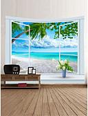 ieftine Accesorii toaletă-Temă Plajă Peisaj Wall Decor 100% Poliester Clasic Modern Wall Art, Tapiserii de perete Decor