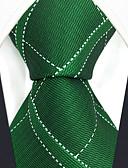cheap Men's Ties & Bow Ties-Men's Party / Work Necktie - Color Block / Check / Jacquard
