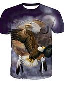 tanie Koszulki i tank topy męskie-T-shirt Męskie Podstawowy, Nadruk Okrągły dekolt Zwierzę / Krótki rękaw