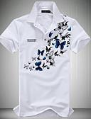 זול חולצות פולו לגברים-פרחוני צווארון חולצה פעיל Polo - בגדי ריקוד גברים / שרוולים קצרים