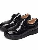 abordables Vestidos de Dama de Honor-Chico Zapatos Semicuero Primavera / Otoño Confort Zapatos de taco bajo y Slip-On para Niños Blanco / Negro