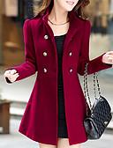 cheap Women's Coats & Trench Coats-Women's Vintage Pea Coat - Solid Colored