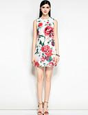 זול שמלות נשים-מעל הברך פרחוני - שמלה גזרת A בוהו / סגנון רחוב ליציאה בגדי ריקוד נשים