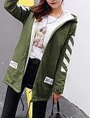 tanie Damskie płaszcze z futrem naturalnym i sztucznym-Trenczy Damskie Moda miejska Wyjściowe Solidne kolory Wełna