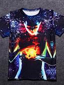 tanie Koszulki i tank topy męskie-T-shirt Męskie Podstawowy, Nadruk Bawełna Okrągły dekolt Geometric Shape / Portret / Krótki rękaw