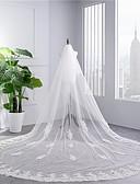 זול הינומות חתונה-שתי שכבות תחרה הינומות חתונה צעיפי קפלה עם ריקמה טול / קלאסי