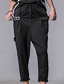 ieftine Pantaloni Bărbați si Pantaloni Scurți-Bărbați Mărime Plus Size Bumbac / In Harem Pantaloni - Plisată, Mată