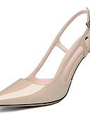 זול שמלות נשים-בגדי ריקוד נשים נעליים עור פטנט קיץ / סתיו גלדיאטור / בלרינה בייסיק עקבים עקב סטילטו בוהן מחודדת שחור / שקד / מסיבה וערב