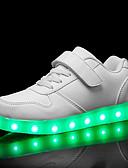 hesapli Kadın Etekleri-Genç Erkek / Genç Kız PU Spor Ayakkabısı Bebek (9 milyon 4ys) / Küçük Çocuklar (4-7ys) / Büyük Çocuklar (7 yaş +) Işıklı Ayakkabılar LED Beyaz / Siyah / Kırmzı Bahar / Kauçuk