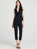 ieftine Costum Damă Două Bucăți-Pentru femei Tricou - Mată, Pantaloni În V