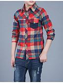 tanie Topy dla chłopców-Dzieci Dla chłopców Podstawowy Codzienny Kratka Długi rękaw Bawełna / Poliester Koszula Zielony 150