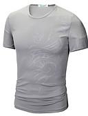 ieftine Maieu & Tricouri Bărbați-Bărbați Rotund Tricou De Bază - Tribal Imprimeu / Manșon scurt