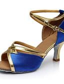 povoljno Muško egzotično rublje-Žene Cipele za latino plesove Saten / Umjetna koža Sandale / Štikle Isprepleteni dijelovi Potpetica po mjeri Moguće personalizirati