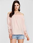 preiswerte Bluse-Damen Solide T-shirt, Bateau Lose Polyester