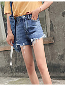tanie Damskie spodnie-Damskie Szczupła Jeansy Spodnie - Otwór, Solidne kolory Wysoka talia