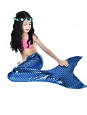cheap Girls' Dresses-The Little Mermaid Swimwear / Bikini Halloween / Carnival / Children's Day Festival / Holiday Halloween Costumes Pink / Fuchsia Mermaid Active Cute