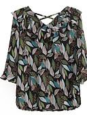 povoljno Bluza-Bluza Žene - Osnovni Dnevno Geometrijski oblici V izrez Print