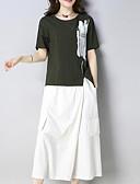 tanie Sukienki-Damskie Rozmiar plus Bawełna Wzornictwo chińskie Wyjściowe Luźna Zestaw W Tureckie Wzory Nogawka / Lato